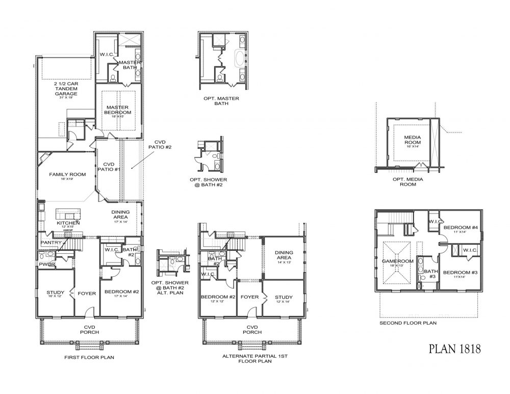 Floorplan #1818 for Darling